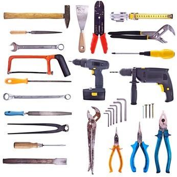 Unterschiedliche Werkzeuge fürs Heimwerken