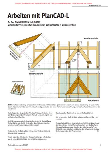 BU: Das kostenlose Abbundprogramm PlanCAD-L ist leicht zu bedienen und verfügt über anschauliche Anleitungen (Bild: http://www.dietrichs.com)