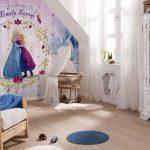 Kinderzimmergestaltung mit Fototapete Disneys Frozen©tapeto.com