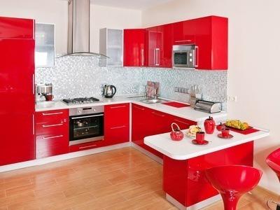 Dekorieren - rote Küche