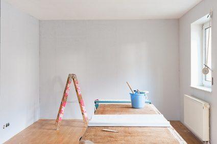 Renovierungsarbeiten im Zimmer