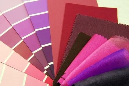 Wandfarben Palette in lila Tönen