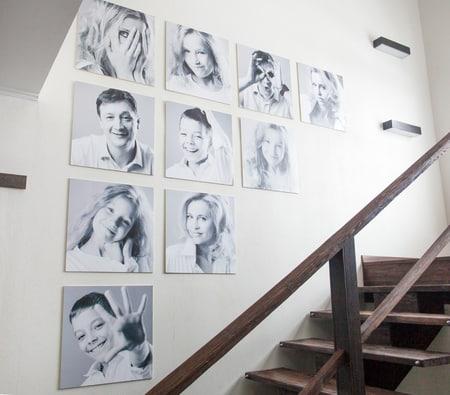 Familie auf Fotoleinwand