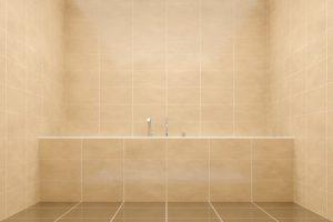 In kleinen Badezimmern nimmt eine Raumsparwanne durch ihre besondere Form weniger Platz ein als herkömmliche Badewannen © magann_Fotolia.com