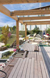Terrassenüberdachung Holzterrasse