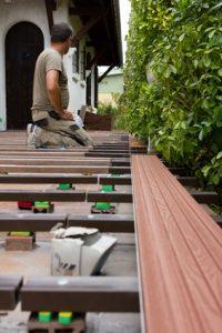 Die Unterkonstruktion einer Holzterrasse